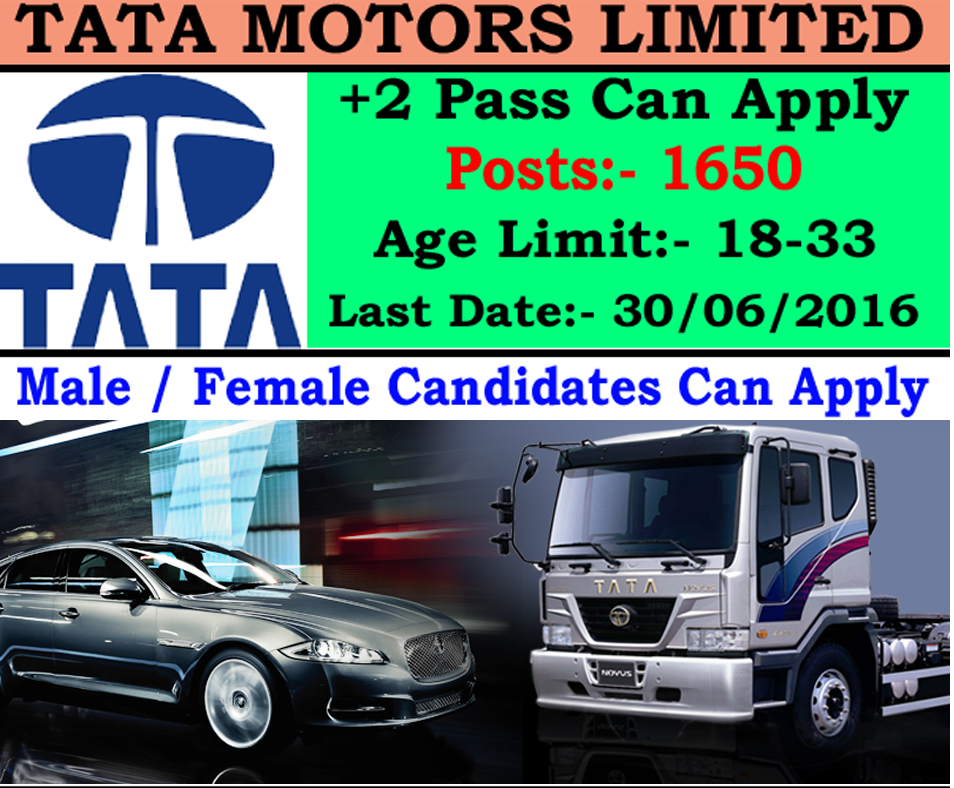 tata motors recruitment notification 2016 1650 mechanic